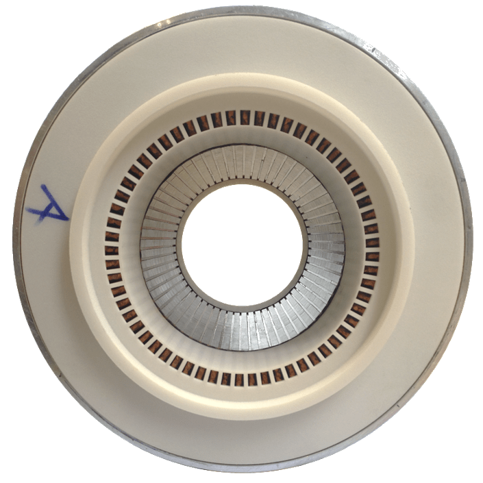 Stator winding for electric motors